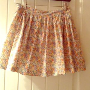 Free People flower skirt with button detail